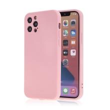Kryt SWISSTEN Soft Joy pro Apple iPhone 12 Pro - příjemný na dotek - silikonový - růžový