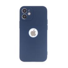 Kryt FORCELL Soft pro Apple iPhone 12 mini - gumový - s výřezem pro logo - tmavě modrý