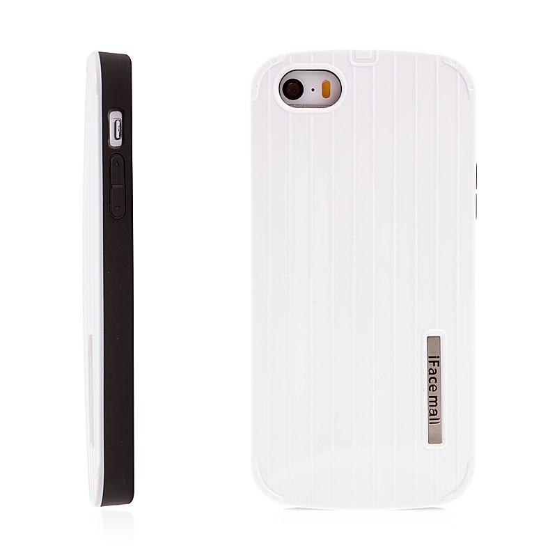 Kryt pro Apple iPhone 5   5S   SE - gumový   plastový - bílý 7141e96ba82