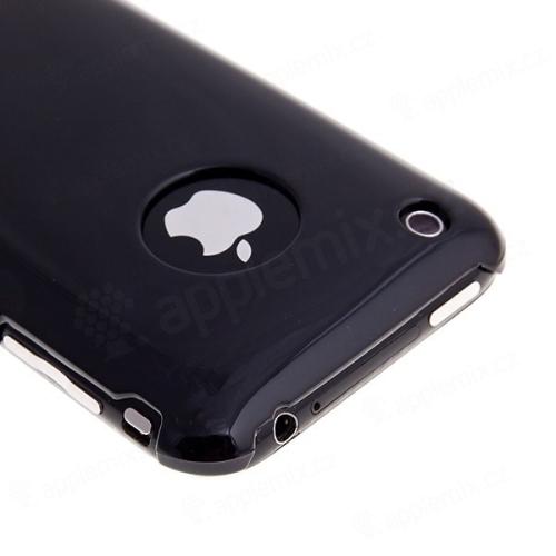 Zadní ochranný kryt pro Apple iPhone 3G / 3GS - černý + ochranná fólie