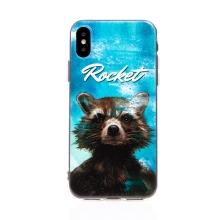 Kryt MARVEL pro Apple iPhone Xs Max - Strážci Galaxie - Rocket - gumový