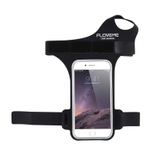 Pouzdro FLOWME - sportovní - s páskem na ruku a palec - černé s reflexním pruhem