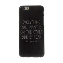 Ochranný plastový kryt pro Apple iPhone 6 / 6S s kovovým povrchem - citát