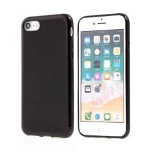 Kryt pro Apple iPhone 7 / 8 - lesklý rámeček - ultratenký - gumový - černý
