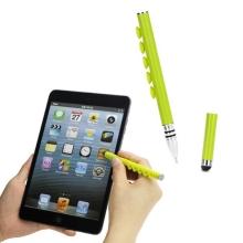 Dotykové pero / stylus s přísavkami pro Apple iPhone / iPad / iPod a podobná zařízení - zelené