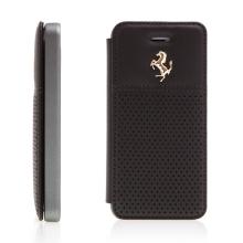 Pouzdro Ferrari GTB pro Apple iPhone 5 / 5S / SE kožené - černé