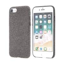 Kryt pro Apple iPhone 7 / 8 - plastový / látkový - šedý