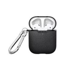 Pouzdro / obal pro Apple AirPods - motiv kůže - karabina - silikonové - černé