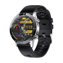 Chytré hodinky LEMONDA Z08S - fitness funkce - kruhový displej - Bluetooth přenos hudby / hovoru - kovové - černé