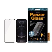 Tvrzené sklo (Tempered Glass) PANZERGLASS pro Apple iPhone 12 / 12 Pro - Case Friendly - antibakteriální - černý rámeček - 0,4mm