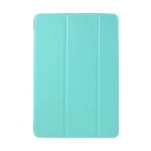 Pouzdro pro Apple iPad mini 1 / 2 / 3 - stojánek + chytré uspání - umělá kůže - tyrkysové