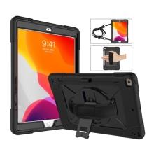 """Kryt / obal pro Apple iPad 10,2"""" (2019-2020) - outdoor - odolný - s páskem na ruku - plastový / silikonový - černý"""