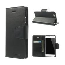 Pouzdro Mercury pro Apple iPhone 6 / 6S - stojánek a prostor pro platební karty - umělá kůže - černé