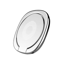 Stojánek / prsten / kovová ploška pro magnetický držák BASEUS Privity pro Apple iPhone - stříbrný
