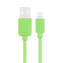 Synchronizační a nabíjecí kabel HAWEEL - Lightning pro Apple zařízení - zelený - 1m