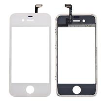 Dotykové sklo (touch screen digitizér) pro Apple iPhone 4 - bílé - kvalita A