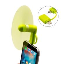 Větráček / ventilátor s Lightning a micro USB konektorem - zelený