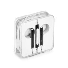 Sluchátka pro Apple iPhone / iPad a další zařízení - plastová - 3,5mm jack - bílá / černá