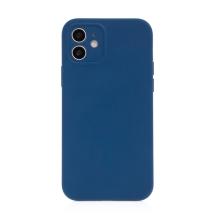 Kryt USAMS pro Apple iPhone 12 - MagSafe kompatibilní - příjemný na dotek - silikonový - modrý