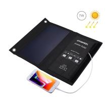 Outdoor skládací solární nabíječka HAWEEL pro Apple a další zařízení - 1x USB (1A/5V/7W) - černá