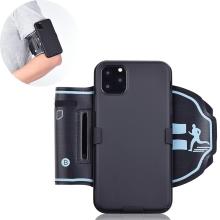 Sportovní pouzdro pro Apple iPhone 11 Pro Max - černé s reflexním pruhem