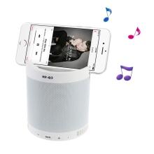 Reproduktor Bluetooth - stojánek na telefon - vstup USB / AUX / Micro SD - plastový - bílý
