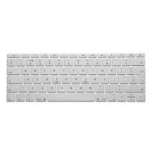 Kryt klávesnice ENKAY pro Apple MacBook 12 / Pro 13 (2016) bez Touch Baru - silikonový - stříbrný - EU verze