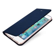 Pouzdro DUX DUCIS pro Apple iPhone 6 / 6S - stojánek + prostor pro platební kartu - tmavě modré