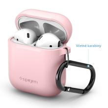 Pouzdro / obal SPIGEN pro Apple AirPods - silikonové - růžové