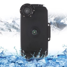 Vodotěsné pouzdro s odolností do 40m hloubky (IPX8) a kompasem pro Apple iPhone 6 / 6S - černé