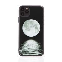 Kryt pro Apple iPhone 11 Pro Max - gumový - černý - s obrázkem