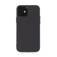 Kryt pro Apple iPhone 12 / 12 Pro - příjemný na dotek - silikonový - černý