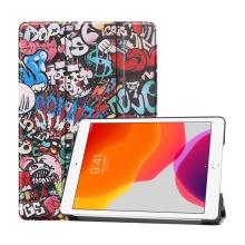 """Pouzdro / kryt pro Apple iPad 10,2"""" (2019 - 2021) - funkce chytrého uspání + stojánek - plastová záda - graffiti"""