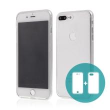 Pouzdro pro Apple iPhone 7 Plus / 8 Plus - celotělové - průhledné - gumové