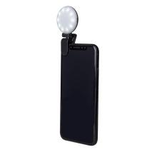 LED selfie světlo / blesk CELLY pro Apple iPhone - černé