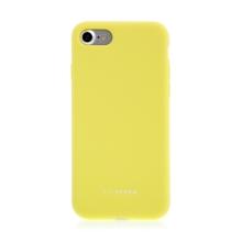 Kryt SO SEVEN pro Apple iPhone 7 / 8 - příjemný na dotek - silikonový - žlutý