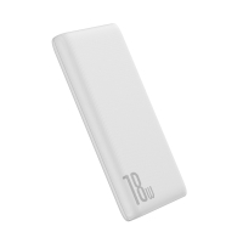 Externí baterie / power bank BASEUS - 10000 mAh - USB-C + USB-A - 18W - bílá
