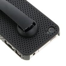 Ochranný kryt / pouzdro pro Apple iPhone 4 s klipem - černý