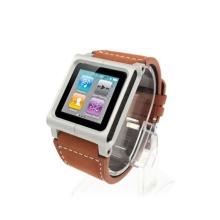 Koženkové hodinkové pouzdro pro iPod nano 6.gen. - hnědé