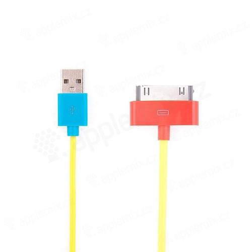 Synchronizační a dobíjecí USB kabel pro Apple iPhone / iPad / iPod – 1m žlutý