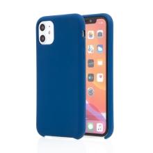 Kryt pro Apple iPhone 11 - příjemný na dotek - silikonový - tmavě modrý