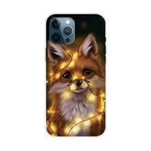 Kryt pro iPhone 12 Pro Max - gumový - liška se světélky
