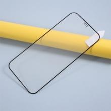 Tvrzené sklo (Tempered Glass) RURIHAI pro Apple iPhone 12 / 12 Pro - černý rámeček - 2,5D - 0,26mm