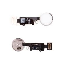 Obvod tlačítka Home Button pro Apple iPhone 8 / 8 Plus - bílé / stříbrné - kvalita A+