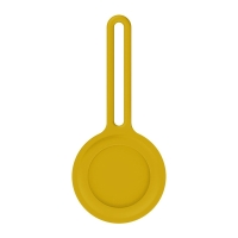 Kryt / obal pro Apple AirTag - barevné poutko - silikonový - žlutý