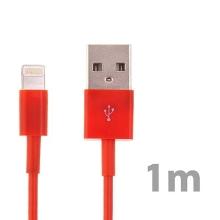 Synchronizační a nabíjecí kabel Lightning pro Apple iPhone / iPad / iPod - červený