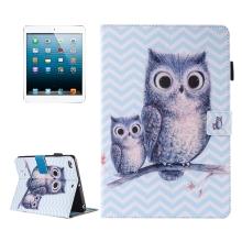 Pouzdro pro Apple iPad mini / mini 2 / mini 3 / mini 4 - stojánek + prostor pro doklady - sovičky