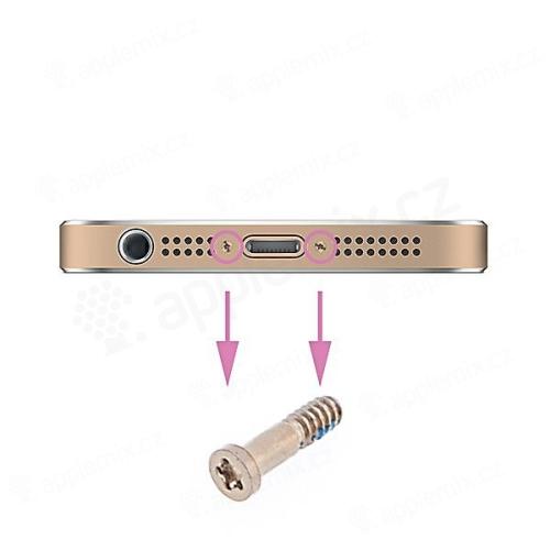 Šroubek na spodní část Apple iPhone 5 / 5S / SE / 6 / 6S / 6 Plus / 6S Plus - zlatý