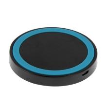 Bezdrátová nabíječka / nabíjecí podložka Qi - plastová - černá / modrá
