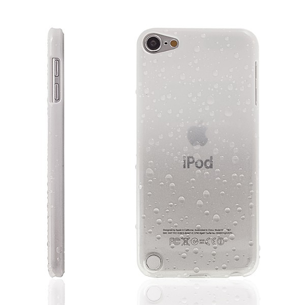 Plastový kryt pro Apple iPod touch 5.gen. - 3D dešťové kapky - bílý